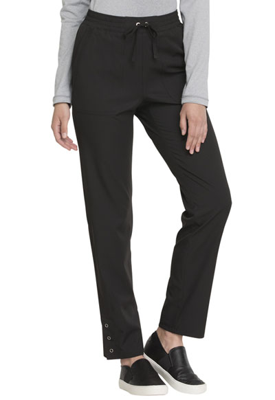 Simply Polished Women's Mid Rise Tapered Leg Drawstring Pant Black