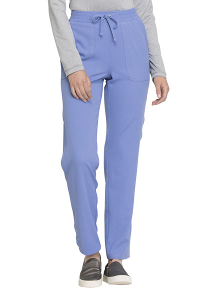 Simply Polished Women's Mid Rise Tapered Leg Drawstring Pant Blue