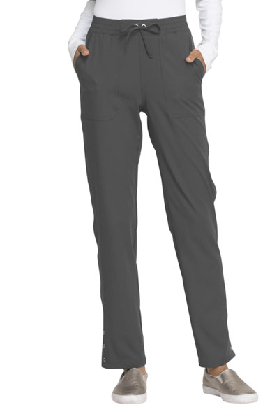 Simply Polished Women's Mid Rise Tapered Leg Drawstring Pant Gray