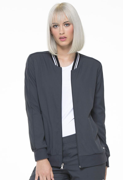 Simply Polished Women's Bomber Jacket Gray