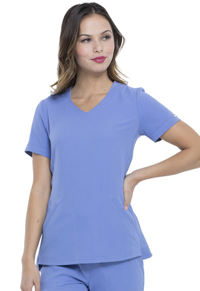 Simply Polished Women's V-Neck Top Blue