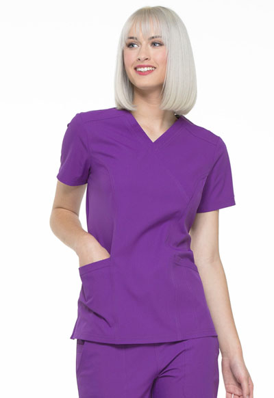 Simply Polished Women's Mock Wrap Top Purple