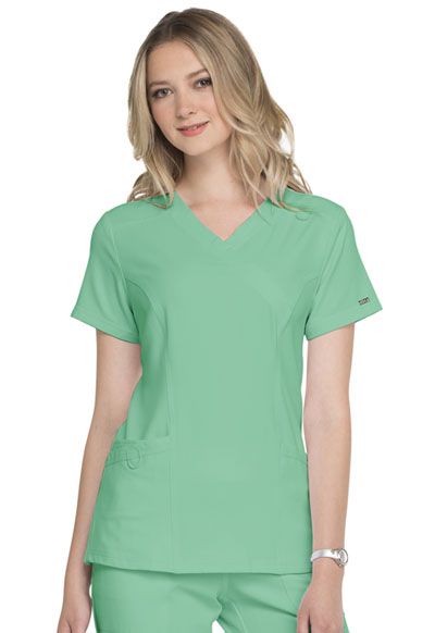 Simply Polished Women's Mock Wrap Top Green