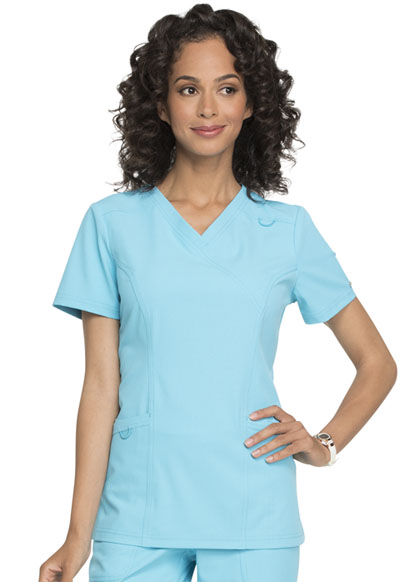 Simply Polished Women's Mock Wrap Top Blue