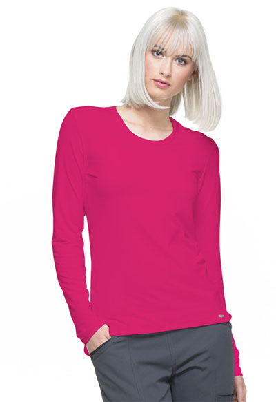 Simply Polished Women's Underscrubs Knit Tee Red