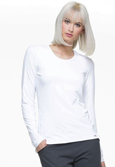 Simply Polished Women's Underscrubs Knit Tee White
