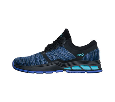 Infinity Footwear Shoes Women's FLY Multi Blue with Black