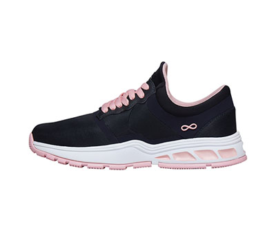 Infinity Footwear Shoes Women's FLY Pewter with Powder Pink