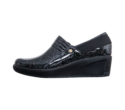 Infinity Footwear Shoes Women's GLIDE Black Sparkle with Black