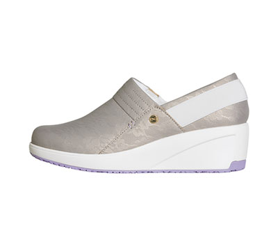 Infinity Footwear Shoes Women GLIDE Taupe with Lavender and White