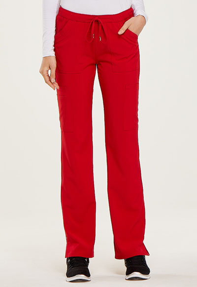Low Rise Drawstring Pant in Red