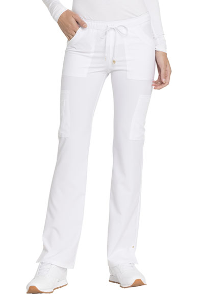 Love Always Women's Low Rise Drawstring Pant White