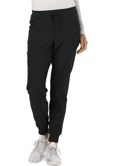 """The Jogger"" Low Rise Tapered Leg Pant in Black"