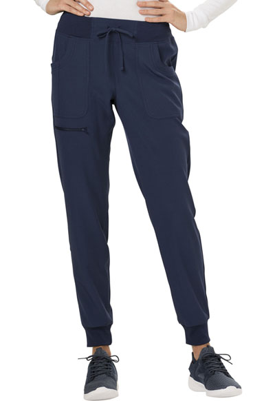 Break on Through Women's The Jogger Low Rise Tapered Leg Pant Blue