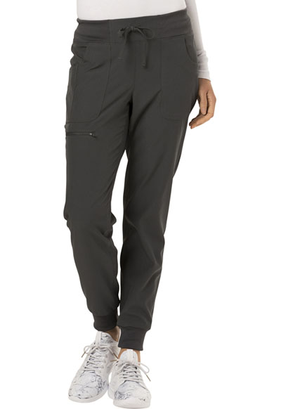 Low Rise Tapered Leg Jogger in Pewter