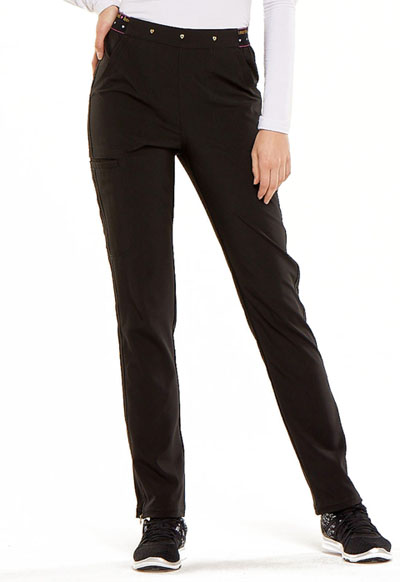 """Adored"" Natural Rise Tapered Leg Pant in Black"