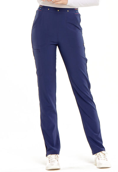 Love Always Women's Natural Rise Tapered Leg Pant Blue