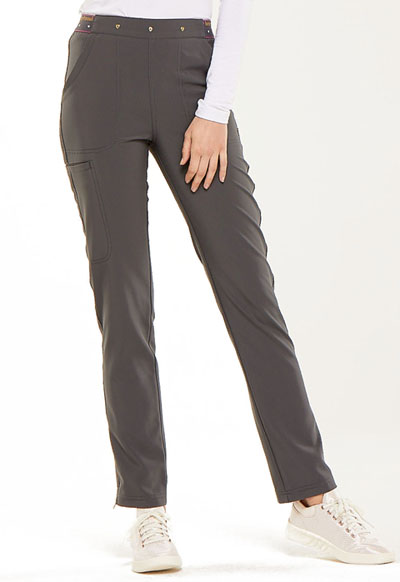 Natural Rise Tapered Leg Pant in Pewter