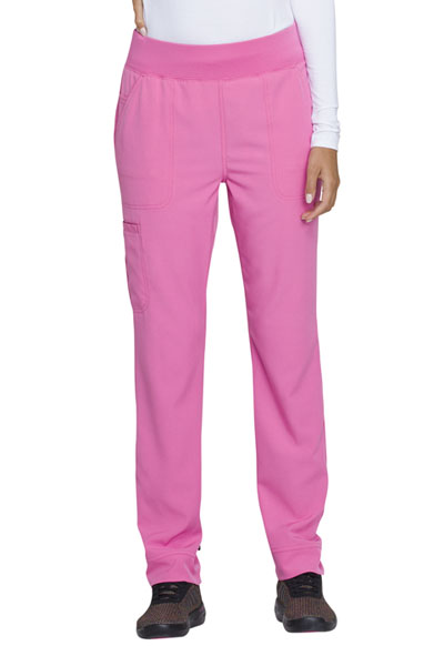 Natural Rise Tapered Leg Pant in Pink Party