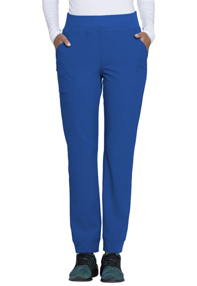 """Charm"" Natural Rise Tapered Leg Pant in Royal"
