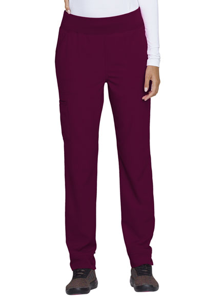 Break on Through Women Natural Rise Tapered Leg Pant Red