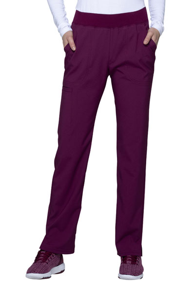 Love Always Women Mid Rise Tapered Leg Pant Red