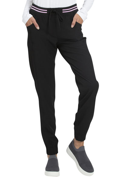 Break on Through Women Rib Knit Waist Jogger Black