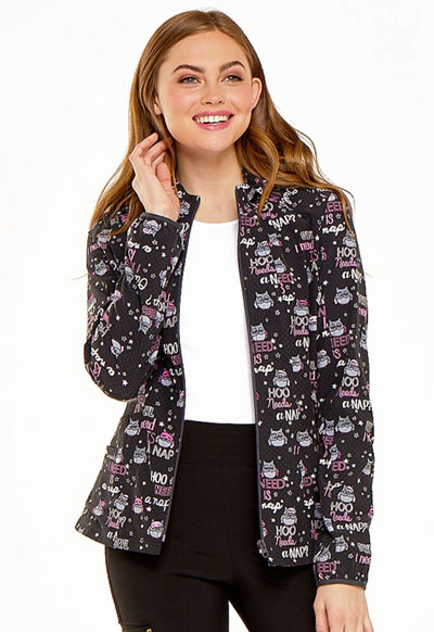 """U Da Bom"" Zip Front Jacket in Hoo Needs A Nap?"