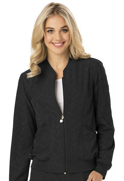 Break on Through by HeartSoul Women's U Da Bomb Bomber Jacket Black