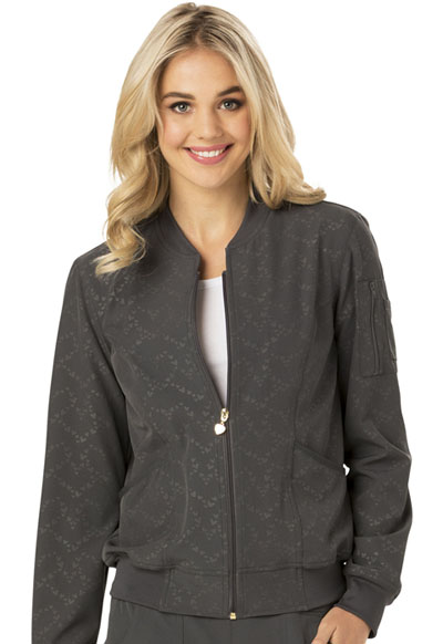 Break on Through Women's U Da Bomb Bomber Jacket Gray