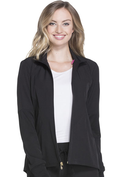Break on Through Women's Zip Front Warm-up Jacket Black