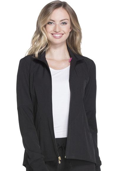 Break on Through by HeartSoul Women's Zip Front Warm-up Jacket Black