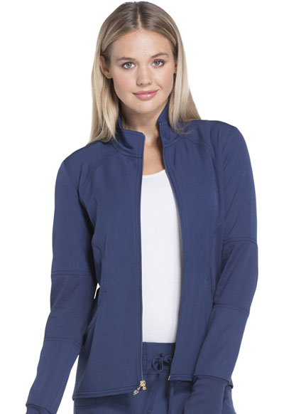 Break on Through Women's Zip Front Warm-up Jacket Blue