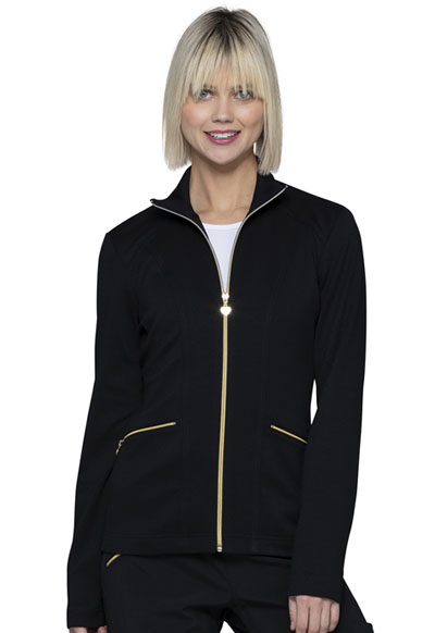 Love Always Women Zip Front Jacket Black