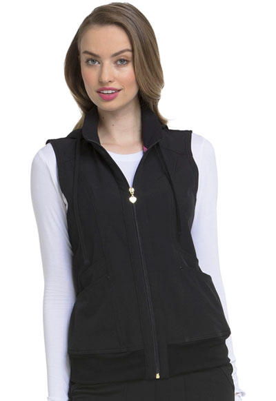 Break on Through Women Zip Front Vest Black