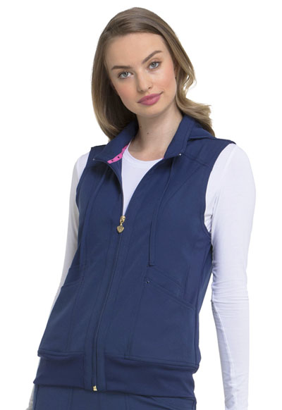 Break on Through Women's Zip Front Vest Blue