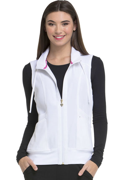 Break on Through Women Zip Front Vest White