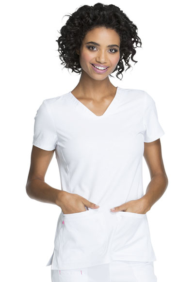 Break on Through by HeartSoul Women's Beat of My Heart V-Neck Top White