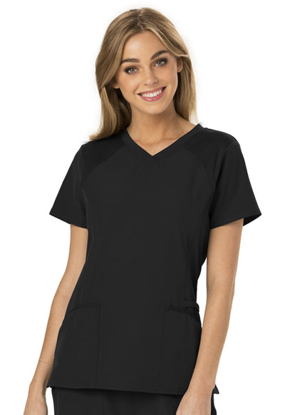 V-Neck Top in Black