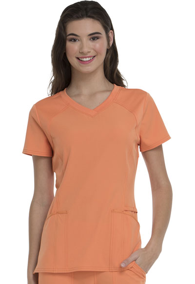 Break on Through Women's Love 2 Love U V-Neck Top Orange