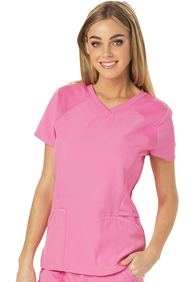 Break on Through Women V-Neck Top Pink