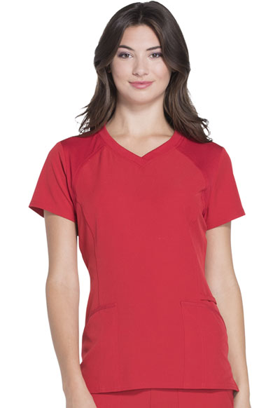 Break on Through Women V-Neck Top Red
