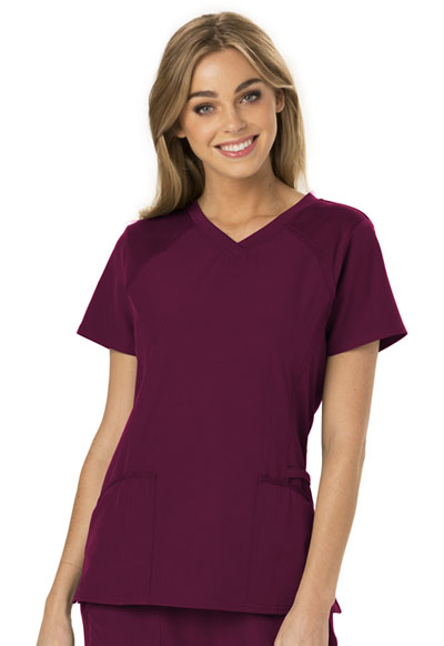 V-Neck Top in Wine