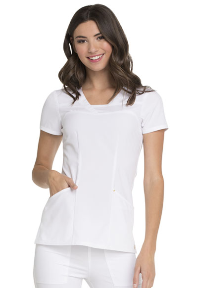 Love Always Women's V-Neck Top White