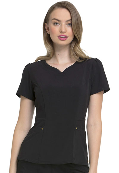 """Lovely"" V-Neck Top in Black"