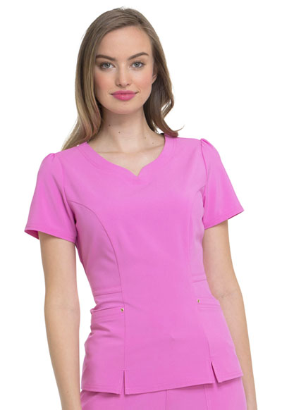 Love Always Women's V-Neck Top Pink