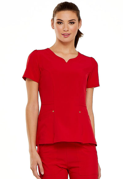Love Always Women's V-Neck Top Red