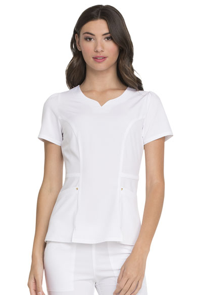 Love Always Women's Lovely V-Neck Top White