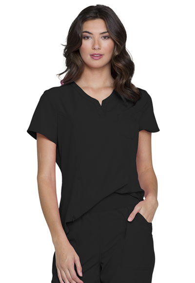 Break on Through Women's V-Neck Top Black