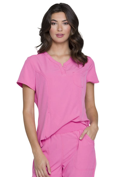 Break on Through Women Tuckable V-Neck Top Pink